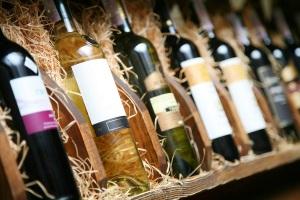 bigstock-Closeup-shot-of-wineshelf-Bot-12360617