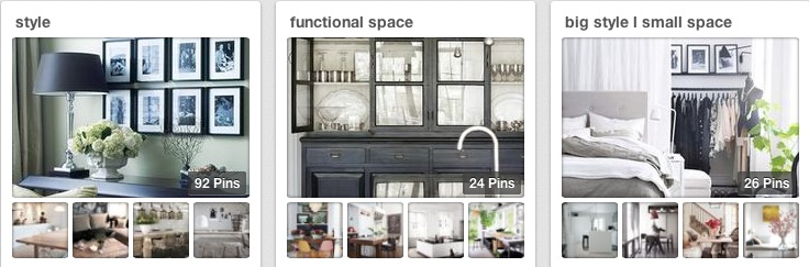 Pinterest - boards