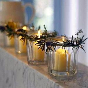 candle mini wreaths preserve jars mantle christmas holiday decor