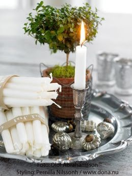 candles christmas silver festive