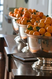 christmas oranges silver decor sophisticated