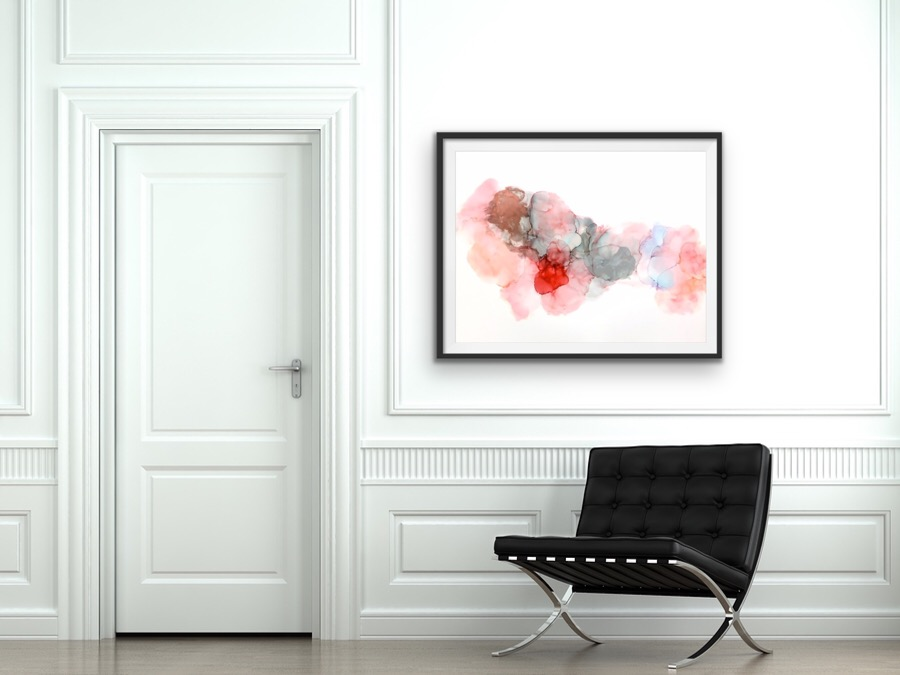 abstract-art local-artist vancouver interior-decor interior-styling colour ,oder bright new-home